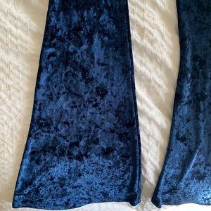 The Indigo Child Pants - Crushed Velvet Flares